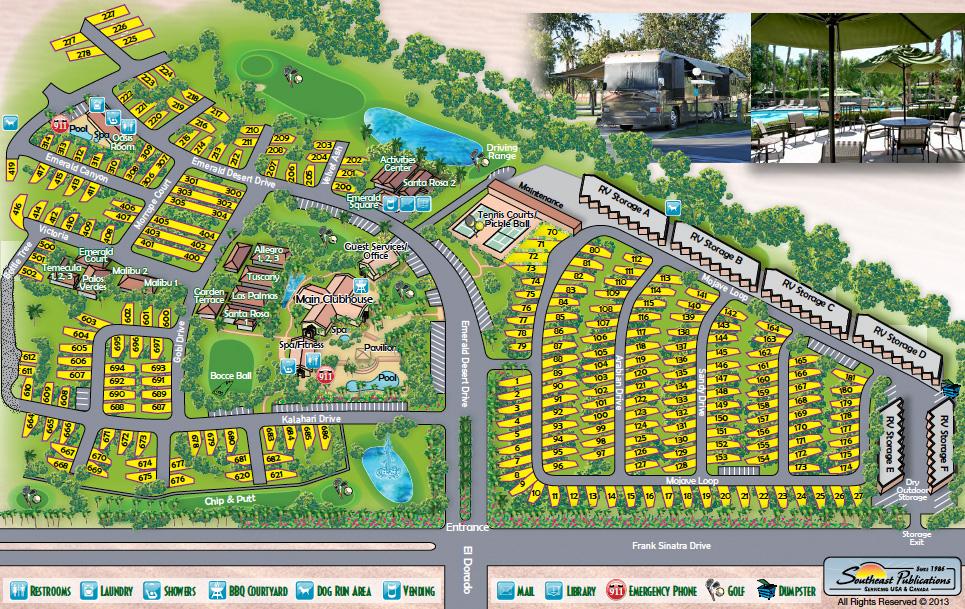 Emerald Desert Rv Resort Palm Desert California Rv